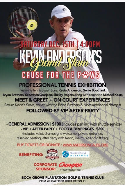Kevin Anderson's Grand Slam Cause for the Paws – Tennis Exhibition